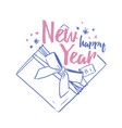 happy new year festive wish handwritten with vector image vector image
