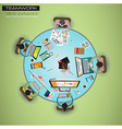 Ideal Workspace for teamwork and brainsotrming vector image vector image