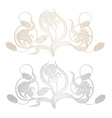 irises vignette vector image