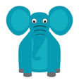 isolated stuffed elephant toy vector image vector image