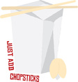 Just Add Chopsticks vector image vector image