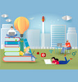 knowledge online distance education concept vector image vector image