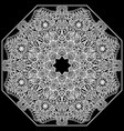 lacy mandala on a black background mehndi flower vector image