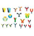 letter y alphabet symbols vector image vector image