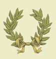 line art laurel wreath vector image vector image