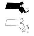 massachusetts ma state map usa with capital city vector image vector image