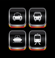 metal plate vehicle theme icon button vector image
