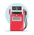 Modern red fuel dispenser over white background vector image vector image