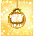 New Year background gold color vector image vector image