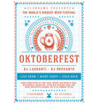 oktoberfest beer festival celebration poster or vector image
