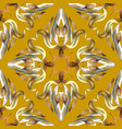 ornate gold silver 3d damask seamless vector image vector image