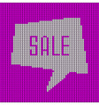 Pink Knitted Sale Bubble vector image vector image