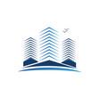 real estate buildings logo vector image