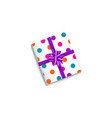 realistic birthday christmas gift present box vector image