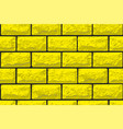 realistic seamless texture of gold brick wall vector image vector image