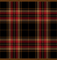 red black tartan plaid seamless pattern vector image vector image