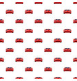 red sport car pattern seamless vector image vector image