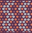 retro flower power pattern purple and blue vector image vector image