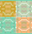 Set ethnic seamless pattern aztec geometric