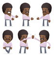 set of disco man character in different poses vector image vector image