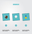 set of sport icons flat style symbols with winner vector image