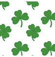 shamrock digital embroidery vector image vector image