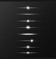 shine beams glowing line set on transparent vector image vector image