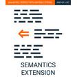 simple outline text semantics extension vector image vector image