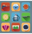 Space Game Icons Flat vector image vector image