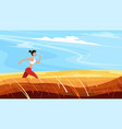 strong athletic woman sprinter running outdoors vector image vector image