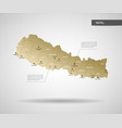 stylized nepal map vector image vector image