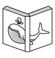 text book open icon vector image vector image