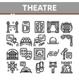theatre equipment collection icons set vector image vector image