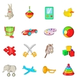 Toys icons set cartoon style vector image vector image