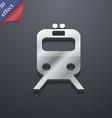 train icon symbol 3D style Trendy modern design vector image