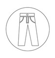 trousers icon design vector image