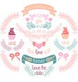 Wedding design elements vector image vector image
