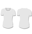 White woman t-shirt vector image vector image