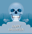 zombies head skull with cold smoke from mouth vector image vector image