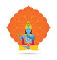 krishna hindu god or deity vector image
