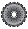 bike metallic cogwheel bicycle crankset cassette vector image