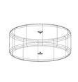 3d wireframe render object vector image vector image
