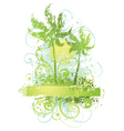 abstract plants and trees vector image