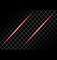 abstract red light on square mesh design vector image