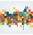 abstract texture with squares and vector image vector image