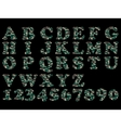 ALPHABET MILITARY GREEN vector image vector image