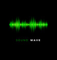 audio wave sound beat line music equalizer vector image vector image