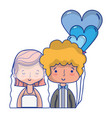 beauty couple married with hairstyle design vector image vector image