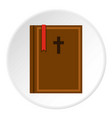 bible icon circle vector image vector image