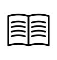Black book icon vector image vector image